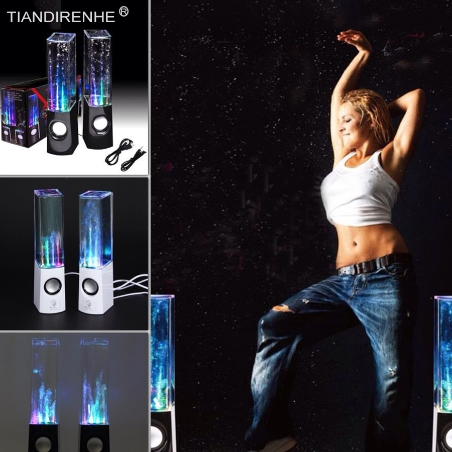 Dancing Water Speaker Active Portable Mini USB LED Light Sound box  for iphone ipad PC MP3 Subwoofer Audio Active Speakers