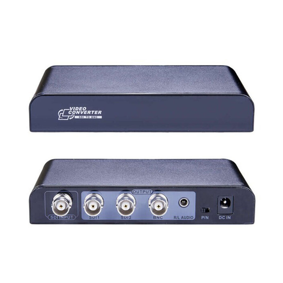 SDI to BNC  Video Splitter Converter Repeater with Audio PAL/NTSC Support SD-SDI HD-SDI 3G-SDI Down/UP Scaler  US EU UK Plug lkv364 sdi to bnc repeater 1080p 720p sd sdi hd sdi 3g sdi distribute to 2 simultaneous sdi outputs sdi converter splitter