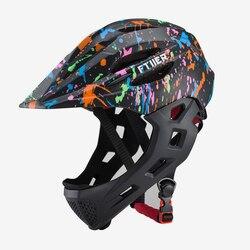 Fullface kask na rower górski na rower dla dzieci kask OFF-ROAD pełna twarz bezpieczny kask na rower górski z daszkiem dh kask rowerowy
