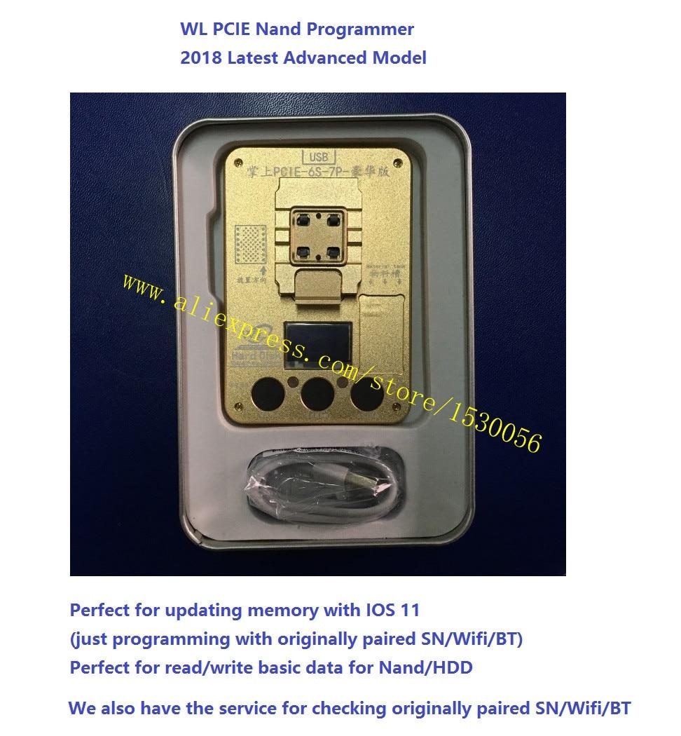 無料DHL WL PCIE NANDプログラマー7P 7 6SP PROフラッシュic iphone 7P 7修理メインボードHDDシリアル番号SNツールアイホンwl 11