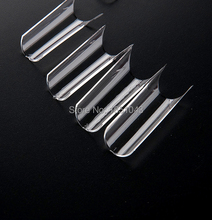 500pcs nail half cover French Competition Deep Smile Square Nail Tips