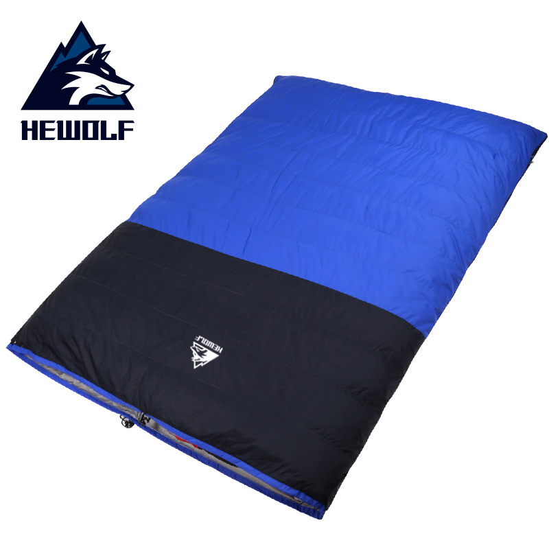 Hewolf 1524 Outdoor Double Person Down Sleeping Bag Detachable Thickening Bag Autumn With Winter Camping Sleeping BagHewolf 1524 Outdoor Double Person Down Sleeping Bag Detachable Thickening Bag Autumn With Winter Camping Sleeping Bag