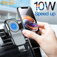 Torras 10W Qi Wireless Charger Car Holder For IPhone X Car Wireless Charger Pad Mount Fast