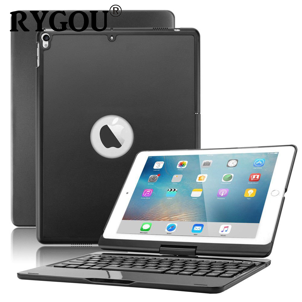 Keyboard Case for iPad 9.7 Inch, 7 Color Backlit Bluetooth Keyboard Case Cover for iPad pro 9.7, 2017 New iPad 9.7, iPad Air 1 2 13 inch laptop keyboard cover