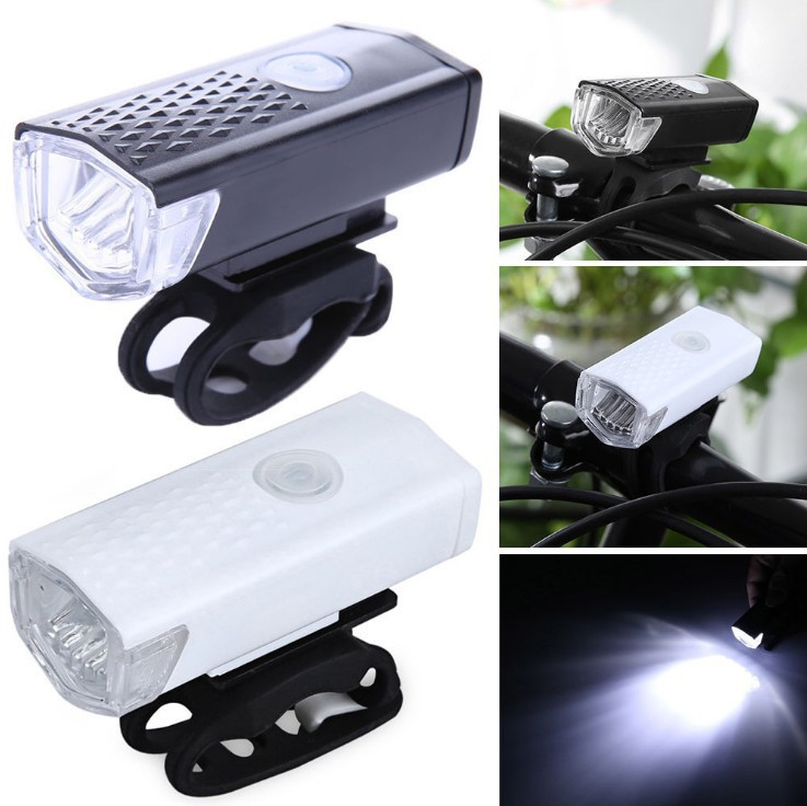 Clearance Bicycle Front Light USB Rechargeable Bike Headlight 300 Lumen 3 Mode Bike Lights Lamp LED Flashlight Lantern Cycling Accessories 0