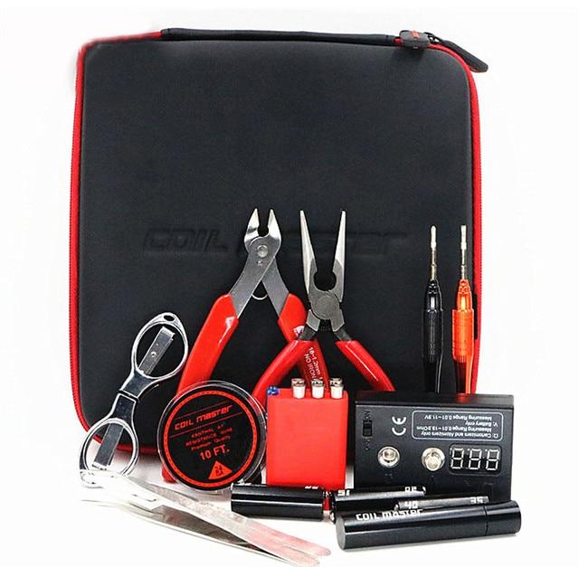 E Cigs Vape RDA Atomizer Coil Jig Tool Full Kit Master Accessories RDA RBA RTA RDTA Tank Professional DIY Tool Bag Coils Kit FYF