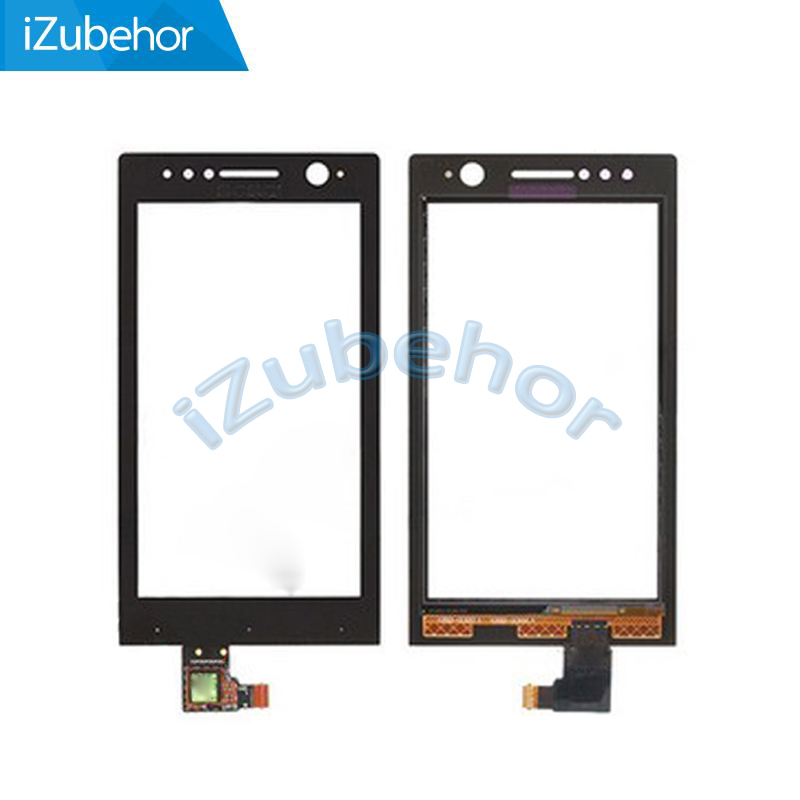 100% warranty black Touch Screen Digitizer For <font><b>Sony</b></font> For Xperia U <font><b>ST25</b></font> ST25i free shipping; image