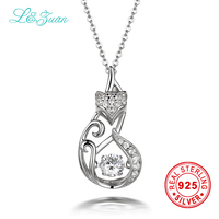 I Zuan 925 Sterling Silver 1 1ct Japan Original Smart Series Dancing Fox Pendant Jewelry With