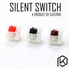 Gateron тихий переключатель 3pin 5pin красный черный коричневый для пользовательской механической клавиатуры xd64 xd60 eepw84 gh60 tada68 xd96 87 ansi 104