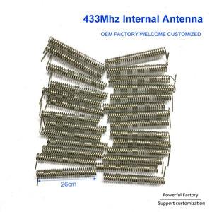 Image 2 - カスタムリン青銅/ニッケルメッキ2dbi内部pcb春433mhzコイルアンテナ100個/バッチ