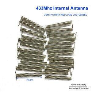 Image 2 - Niestandardowy brąz fosforowy/niklowany 2dbi wewnętrzna sprężyna PCB 433Mhz antena cewki 100 sztuk/partia