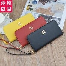 купить Fashion Women Long Wallet Lady Handbags New Zipper Coin PU Leather Purse Cards Holder Female Long Clutch M1002 по цене 653.38 рублей