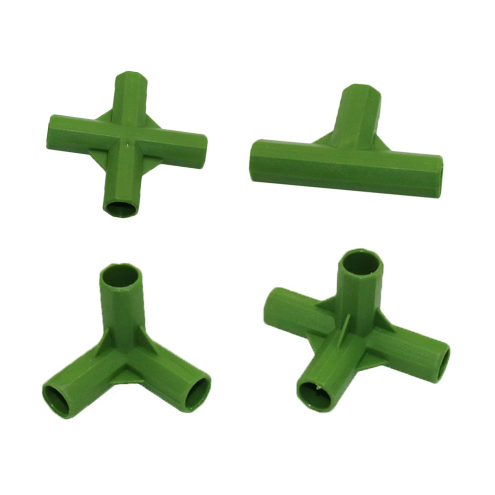 3 way  4 way connector 11mm Plant Stakes Plastic Fixed Connectors Gardening Lawn Stakes Edging Corner Connectors 3 Pcs|Fencing  Trellis & Gates| |  - title=