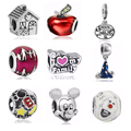 New Fashion Jewelry 1PC Silver Plated Bijoux Love Family Beads Fit Pandora Charms Bracelet Jewelry Making Wholesale Cartoon Bead