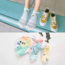 2 Pairs/Lot Summer Boat Sock Female Cotton Candy Color Socks Japanese Cute Solid Ladies Wholesale 5 Styles
