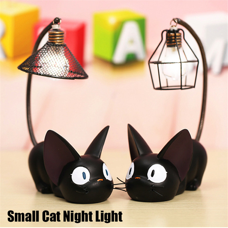 Smuxi C reative Resin Cat Animal Night Light Ornaments Home Decoration Gift Small Cat Nursery Lamp Breathing LED Night Light
