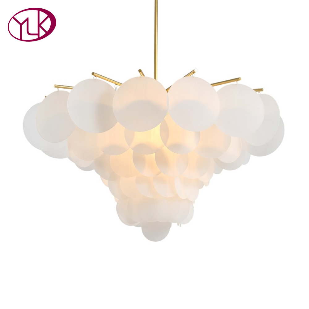 Youlaike Modern LED Chandelier For Living Room Round Acrylic Hang Lighting Fixtures Dining Bedroom Home Lamps modern led pendant lighting home decoration indoor round hanging lamps fixtures for dining room living room hotel 44w d5070cm