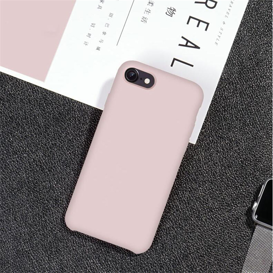 Original Silicone Case on iPhone 7 8 6 6S Plus X 5s 15