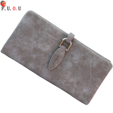 цена на New Fashion Women Short Purses Vintage PU Leather Lady Snap Fastener Short Clutch Wallet Small Matte Women Wallet Female Purse 9