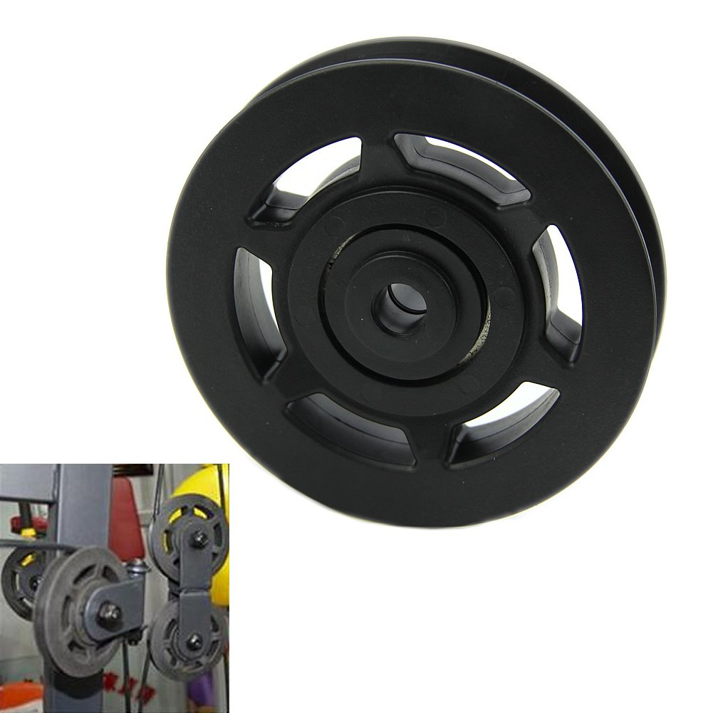 JHO 95mm Black Bearing Pulley Wheel Cable Gym Equipment Part Wearproof