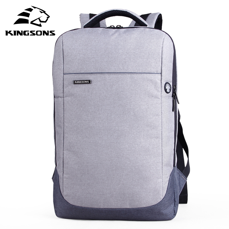 Kingsons 15.6 Laptop Bag Backpack Daily Rucksack Large Capacity Sac Main Mens Baypacks Women Back Pack Bag School Bagpack