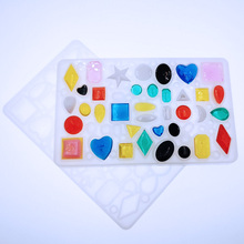 1PC Gem combinations Pendant Craft DIY Transparent UV ResinepoxySilicone Combination Molds for Making Finding Accessories