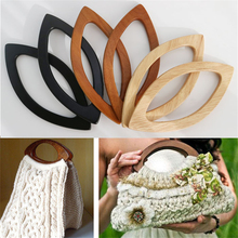 1pair Meetee  20*9.5cm wooden handle 3 colors DIY handmade patchwork Bag hook Buckle For Frame Purse Handle AP2349