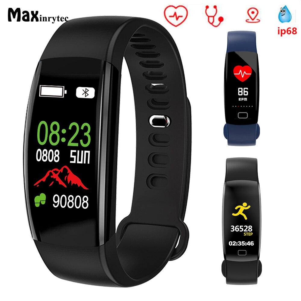Original F64HR fitness Bracelet IP68 Waterproof Smart Band Activity Tracker Blood Pressure GPS Watch Oxygen Monitor