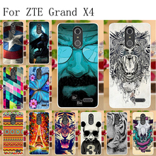 Anunob For ZTE Grand X4 Case Silicone 5.5 Phone Back Cover Z956 Capa Fundas Bumper Soft TPU Painted Shell Bags