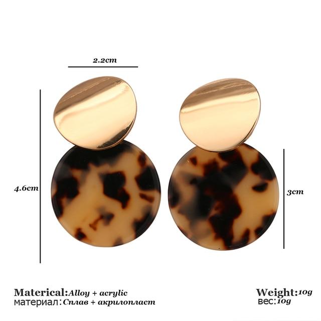 Vintage Colorful ZA Leopard Print Dangle Earrings For Women Fashion Round Drop Earring Female Wedding Party.jpg 640x640 - Vintage Colorful ZA Leopard Print Dangle Earrings For Women Fashion Round Drop Earring Female Wedding Party Jewelry