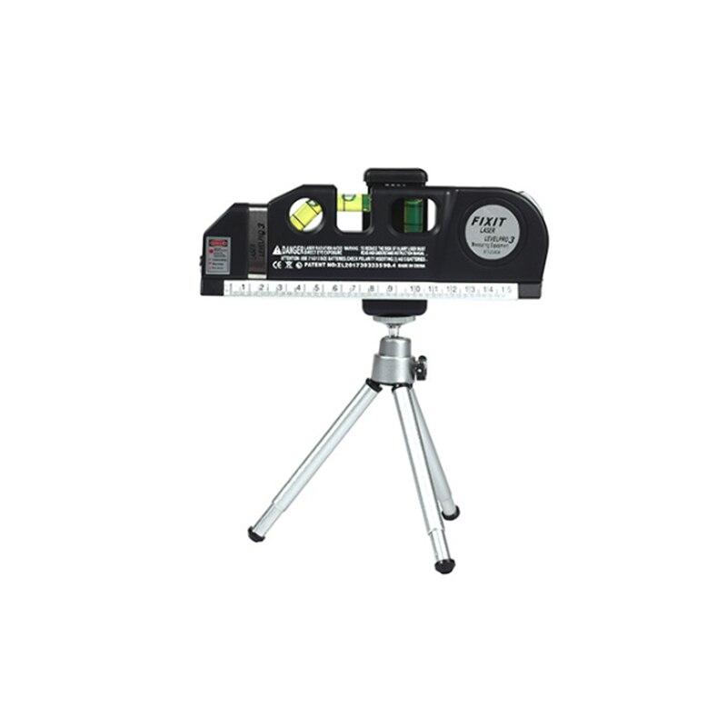 3 Line Infrared Laser Level Ruler Horizontal Meter Tape