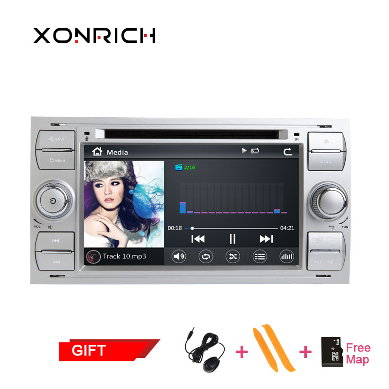 Double Din Car DVD Player Multimedia AutoRadio GPS Navi For Ford Fiesta Ford Focus 2 Mondeo 4 C Max S Max Fusion Transit Connect