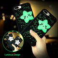 Kisscase lindo estrellas luminosas case para iphone 6 6 plus 6 s 6 s además de 7 7 plus cubierta encantadora del nuevo teléfono de dibujos animados de silicona suave capa