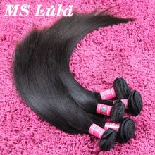 human hair weave straight Sample Order 1pc  malaysian virgin hair extensions full and thick ms lula hair
