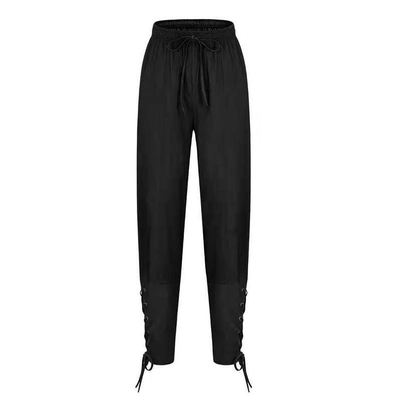 Men's Pants Male Trousers Comfortable Harlan Fashion Casual Lacing Quick-Drying