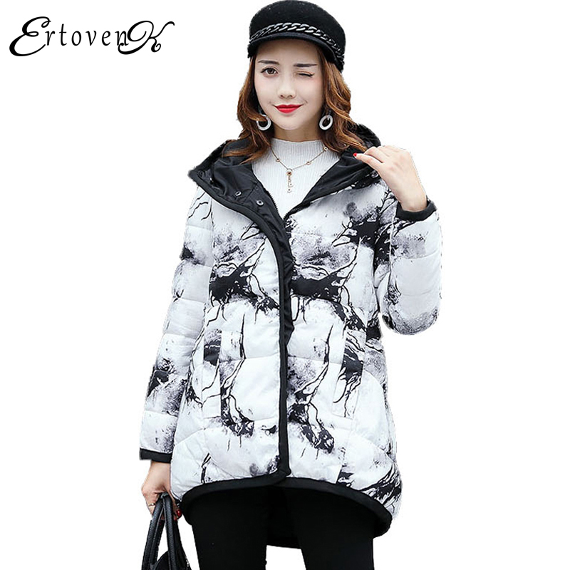 Long-Sleeve Cotton Coats 2017New Winter Women Large size Jacket Slim Top Two-sided Wear Clothing Outerwear abrigos mujer LH116 plus size women cotton coats jacket winter 2017 new long sleeve top slim fashion clothing korean outerwear abrigos mujer lh013