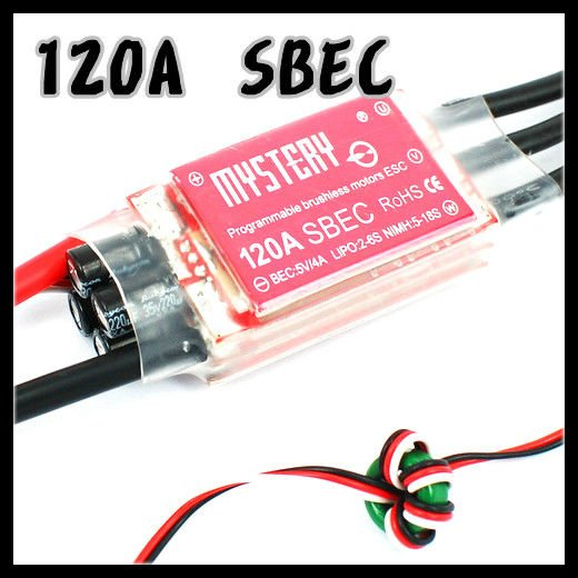 Mystery Topspeed 120A SBEC Brushless ESC Programablec Speed Controller ESC For RC Helicopter AirplaneMystery Topspeed 120A SBEC Brushless ESC Programablec Speed Controller ESC For RC Helicopter Airplane