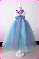 Rainbow Color Tutu Dress For Baby Girls With Purple Bow NotBaby Christmas Dresses Christening Dress Children