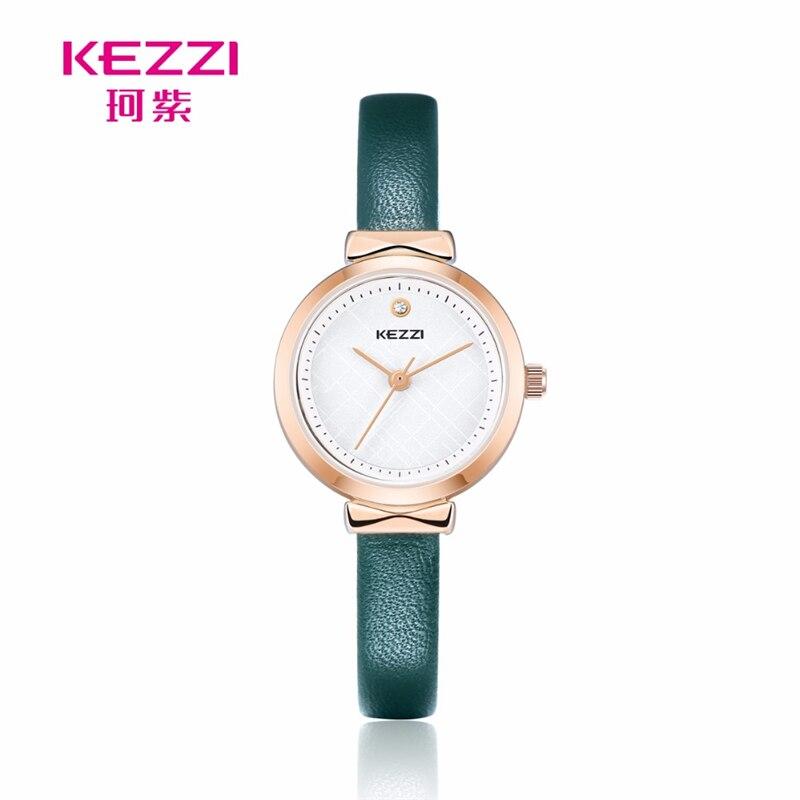 Kezzi Classic Top Brand Fashion Simple Style Top Famous Luxury brand quartz watch Women casual Leather watches hot Clock k1780 fashion dali brand leather leather watch luxury classic a6