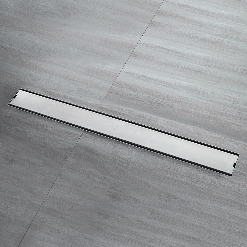 304 Stainless Steel Bathroom Kitchen Floor Drain 100cm Grates Waste Linear Shower Drain 80cm Insert Long Floor Drains Brushed xueqin stainless steel bathroom shower floor drain grates waste linear tile insert long drainer floor drain