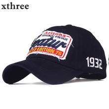 Xthree cotton baseball cap men casual snapback hat for women casquette Letter embroidery gorras