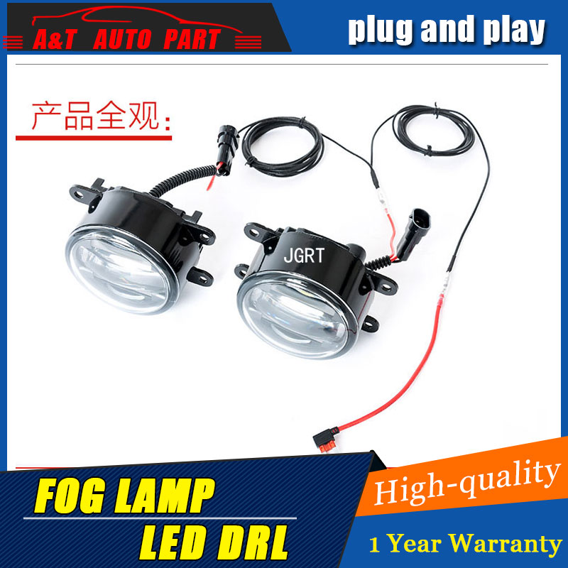 JGRT 2007-2017For Toyota Camry led fog lights+LED DRL+turn signal lights Car Styling LED Daytime Running Lights LED fog lamps