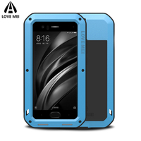 Love Mei Brand Case For Xiaomi Mi 6 Metal Shockproof Phone Cover For Xiaomi Mi 6 Mi6 Full Body Anti Fall Armor Case Rugged Shell
