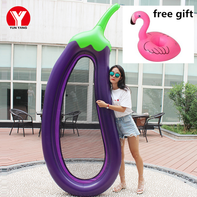 Inflatable Mattress 255cm Eggplant Inflatable Air Mattress for Swimming Pool Water Toys Swimming Water Floating Beach Mattress