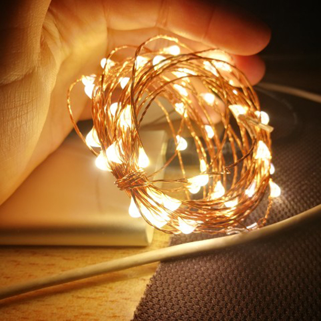 5M 10M USB Powered Starry LED Light Silver Copper Wire Fairy String for Outdoor Christmas Tree Garland Party Wedding Decoration