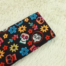 69d4657d666 half meter plain cotton fabric with skull halloween print