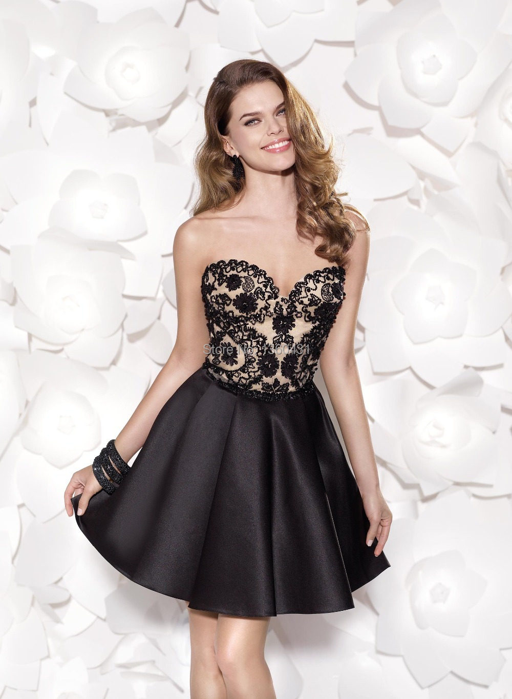 2015 Dynamic Unique Fashion sexy cocktail gowns Sweetheart a line ...