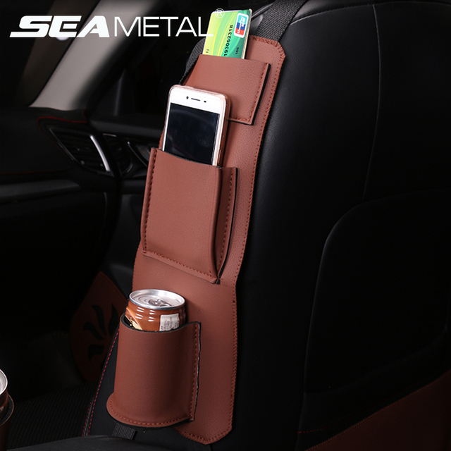 Car Seat Side Organizer Bags Hanger Holder Storage Bag Auto Stowing Tidying Travel Multifunction Box Pouch For Car Accessories