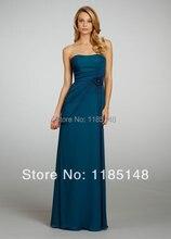 Neue Mode! Elegante dünne lange Kleid einfache atmosphärische Cocktail Kleid Freies Verschiffen