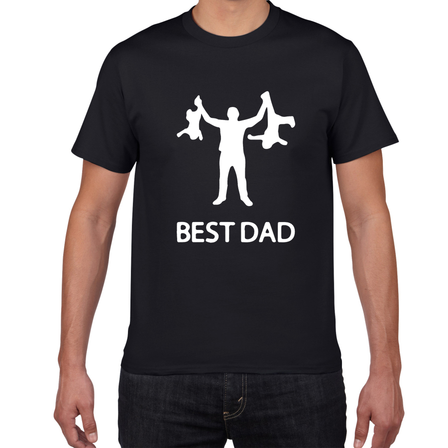Best Dad Streetwear Tshirt Men Funny Design Father Day 100% Cotton Summer Hip Hop T Shirt  Gift Tshirt Homme Men Clothes 2019